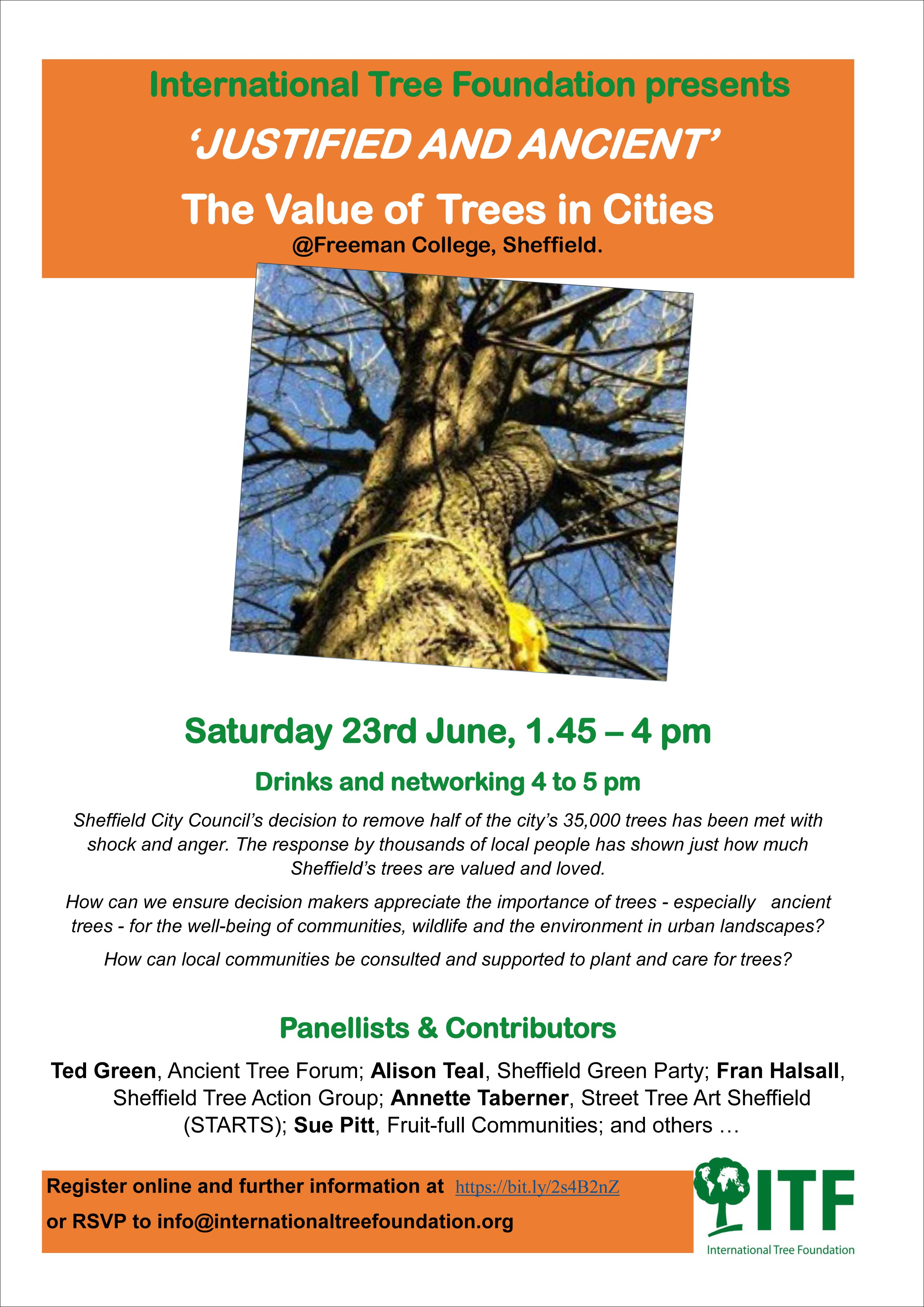 """""""Justified and Ancient- the Value of Trees in Cities"""