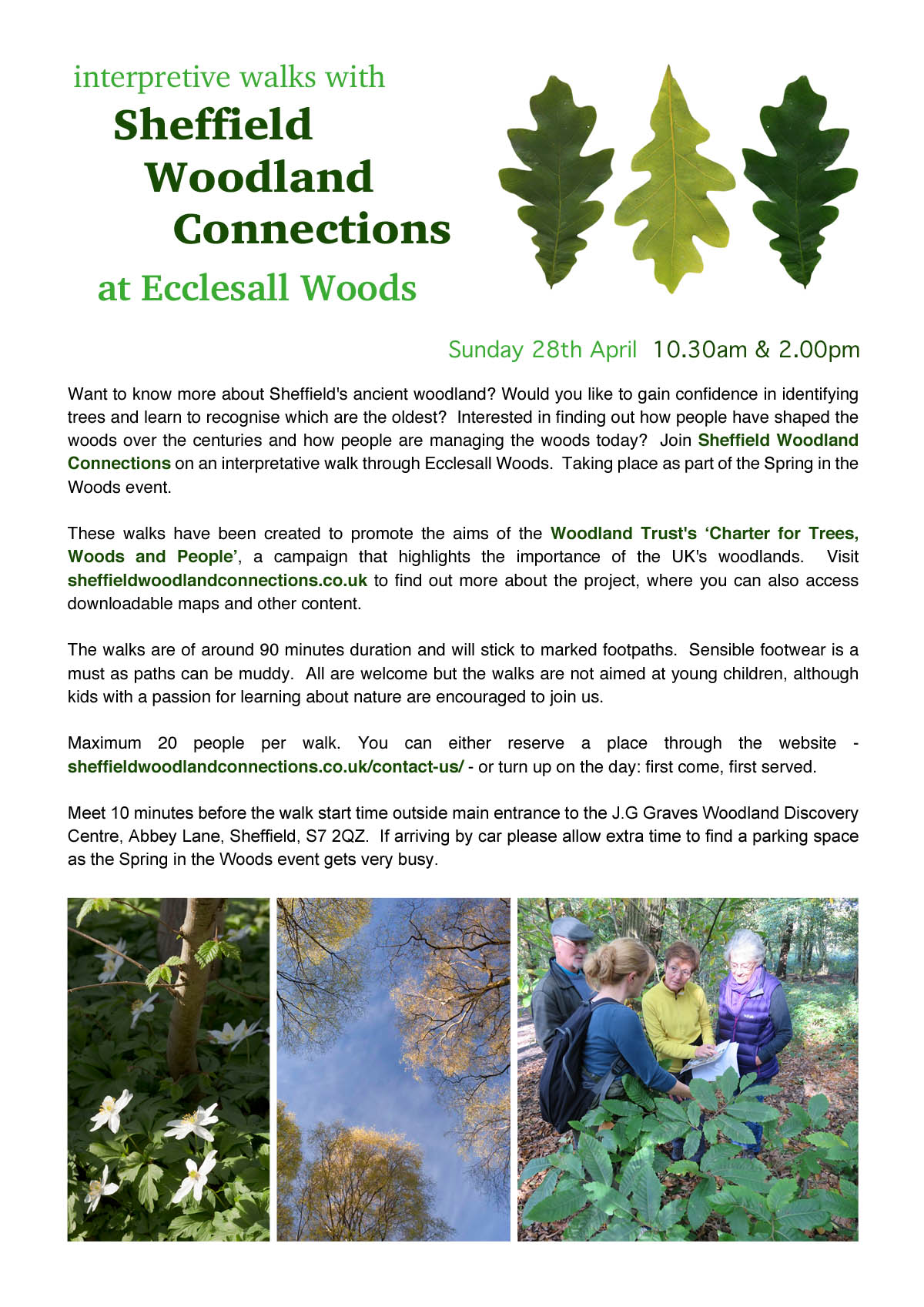 Free walks in Ecclesall Woods on 28th April 2019.