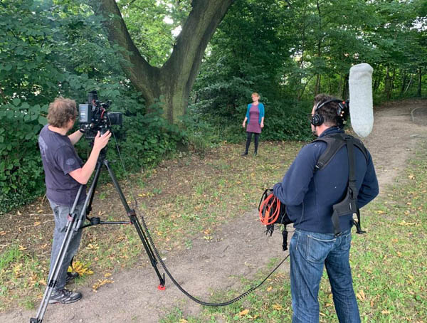 Film shoot at Sheffield General Cemetery